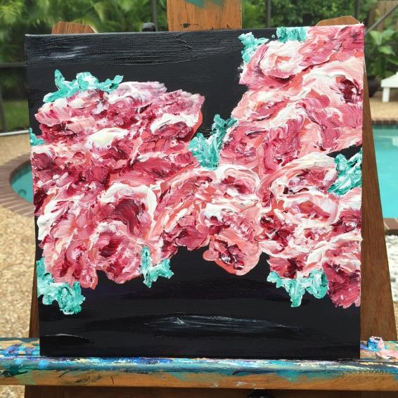floral pink black 2