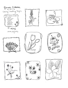 Flower Coloring Pages poster page