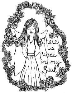 Girl Peace in soul