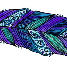 purple blue feather