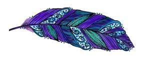 purple blue feather