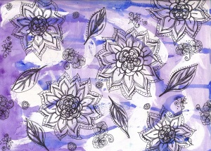 Purple Floral Background