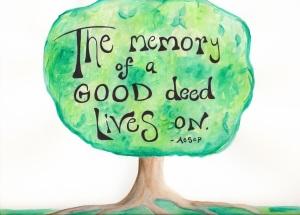 Tree Memory of Good Deed