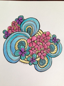 floral wave sunshine 3 colored pencil