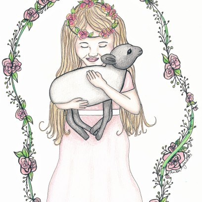 Girl with lamb